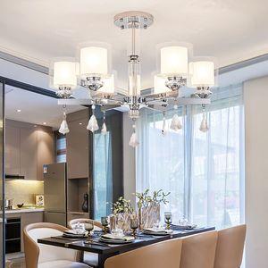 Modern Chandelier Lighting Chrome Led Chandeliers Iluminación Crystal Living Room Led techo Araña para luces de sala de estar