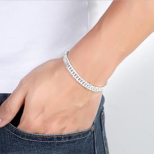 Banhado a ouro 18K moda personalidade artesanal dos homens Pulseira chicote cadeia S925 pulseira de prata grossa de jóias por atacado