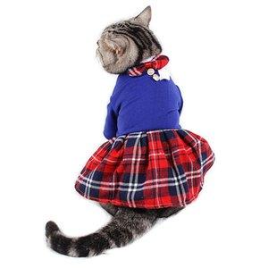 Princesa de la falda para los animales domésticos banquete de boda de la universidad PipiFren Perros vestidos de encaje del vestido del tutú Gatos Perros Ropa vestidos perrita caniche