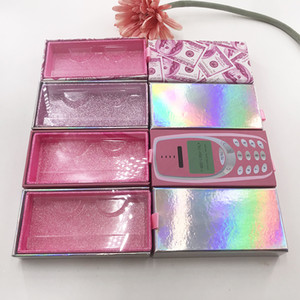 Wholesale Eyelashes packaging Box Pink Money Magnetic Box for 25mm Mink Lashes Custom Private Label Phone packaging Box