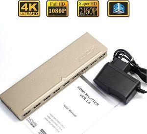 HDMI splitter 1x8 3D anahtarı 1 in 8 out splitter Amplifikatör 1X8 HDMI ABD ile distribütörü / AB Tak Güç Kaynağı