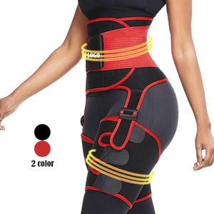 Delgado Rojo neopreno muslo Trimmer Con correa de cintura de la cintura de la cintura del muslo Trainer