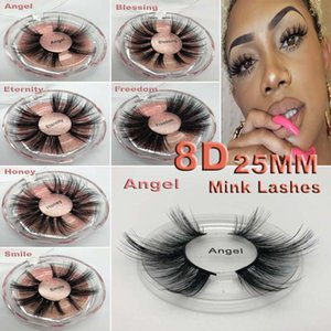 Super Long 25mm 3D 5D Ciglia di Visone Drammatico Ciglia di Visone Real Ciglia 25 mm Handmade False Ciglio Eye Makeup Maquiagem