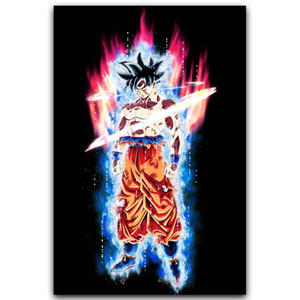 Art Silk Poster Goku clássico Anime Poster New Anime japonês parede Pictures para Home Wall Decor