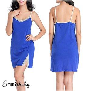مثير للمرأة السيدات الصيف الملابس الداخلية الرباط أكمام ملابس خاصة بيبي دول ملابس داخلية قمصان النوم رداء أسود أزرق وردي