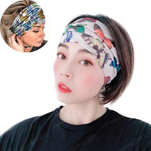 Large Bandeaux pour Yoga Bandeaux Femmes Turban tête Wraps d'entraînement Courir Stretchy headwraps Mesdames Accessoires cheveux
