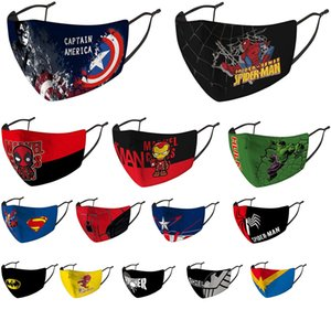 designer face mask kids mask riding cold protection new spiderman Batman superhero child mask captain shield punisher deadpool marvel