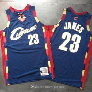ClevelandCavaliersLeBronJamesMEN MItchellness Declaração de basquete Swingman Jersey