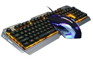 마우스 키보드 세트 V1 유선 백라이트 조명의 USB 게이밍 키보드 3200DPI 방수 게임 마우스 게이머 노트북 컴퓨터 마우스