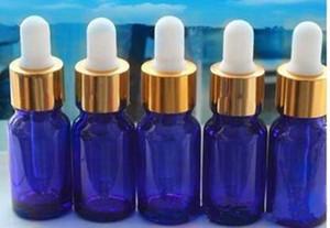 전자 담배 vape 10 미리리터 유리 스포이드 병 블루 그린 앰버 클리어 컬러 블랙 골드 캡 childproof 에센셜 오일 ejuice 액체 병