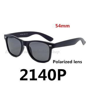 Gafas de sol clásicas de marca polarizadas 2140P nuevas gafas de caballero para damas 8 colores marco negro mate 54 mm
