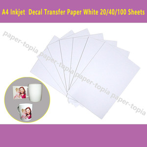 DHL Fast Delivery 100 Sheets A4 Inkjet Printer Water Slide Decal Paper Sheets White Color
