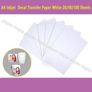 DHL schnelle Anlieferung 100 Blatt A4 Inkjet-Drucker Wasserrutsche Aufkleber Papierblätter weiße Farbe