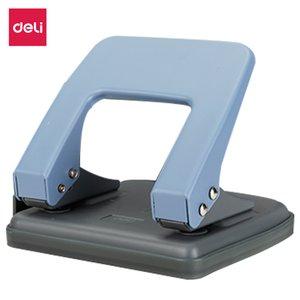 DELI E0102 Металлический перфоратор 20 листов - Расстояние до отверстия 80 мм - Точная штамповка