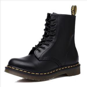 Los hombres de moda las botas de cuero botas DR M más caliente retro vendimia de las mujeres Senderismo Calzado deportivo Mujeres de fondo plano casual Martin Botas