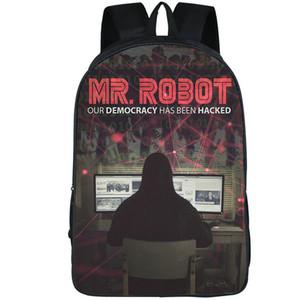 Мистер Робот рюкзак демократия была взломана телеспектакль Рюкзак школьный печать рюкзак спортивная школа сумка открытый рюкзак