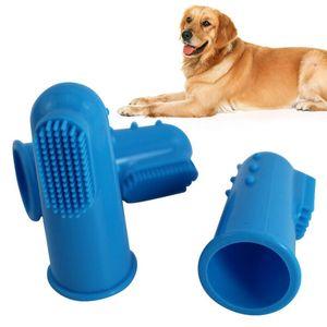 Sıcak Süper Yumuşak Pet Parmak Diş Fırçası Teddy Köpek Fırçası Ağız Kokusu Diş Bakımı Köpek Kedi Temizleme Köpek Aksesuarları Malzemeleri