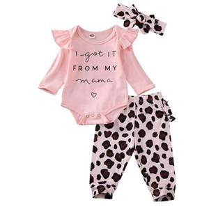 Emmababy новорожденного ребёнки Romper комбинезон Bodysuit стяжка Одежда 3шт Эпикировка