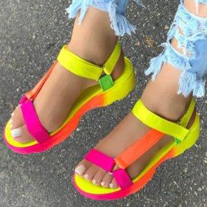 Marchwind Karinluna IN heißen Verkaufs-multi Farben-große Größe 43 beiläufige Schuh-Frauen-flache Dropship Bequemen Sandalen Weiblich