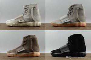 scarpe vendite calde Kanye West 750 stivali Light Grey Brown scarpe da ginnastica scarpe sportive Triple Black Grey 750 Outdoor escursioni fare jogging shoes2019