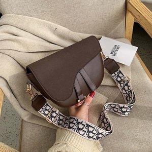 ins super fire small bag female 2020 new wave Korean version wild wide shoulder strap messenger bag net red fashion saddle bag