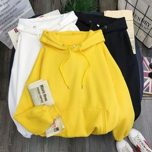 2020 high quality Cotton sweater, plush and thickened new solid color women's upper garment, women's dress, one hair substitute