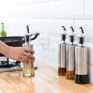 Stainless Steel Oil Bottles Soy Sauce Vinegar Wine Seasoning Kitchen Tools