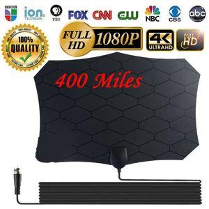 400 Milhas Limpar Indoor TV Digital HDTV Antenna [2019 Latest] UHF / VHF / 1080p 4K