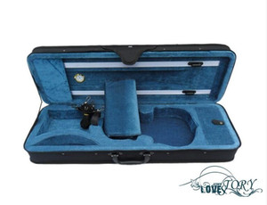 High-grade light violin case box gold table double strap with cloth 1 4 1 8 1 2 3 4 4 4