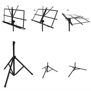 Pieghevole leggero Music Stand lega di alluminio Tripod Holder stand regolabile in altezza con il sacchetto di trasporto