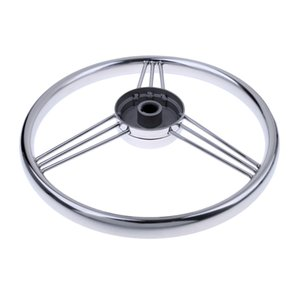 13'' Boat Marine Yacht Stainless Steering Wheel for Boat Marine Yacht - Silver