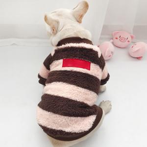 2020 Çizgili Pet Giyim Teddy 2 Renkler Kısa Kedi Tshirts Yüksek Kalite Köpek Giyim Köpek Moda Köpek Triko