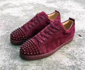 Blau Low Sneaker aus Wildleder mit stacheligen Toe Rantus Orlato Lovers gute Qualität beiläufige Schuh-Turnschuhe Großverkauf Freies Shiping 25