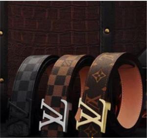 Couro de Luxo 2019 Projeto Homens Belt e moda cintos Genuine Belts Belt Marca cintura Ouro Prata Preto fivela A alta qualidade