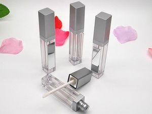 Nuovo LED 7ML Svuotare Lip Gloss Tubi con specchio quadrato trasparente Lip Gloss bottiglia Lipgloss riutilizzabili bottiglie recipienti di plastica Trucco Packaging