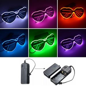 Parti Konser Malzemeleri SY0539 için fosforlu Çubuk Aksesuarları Yanıp sönen El Tel Led Gözlük Çerçevesi Kalp Shape Glow Light Stick Gözlük