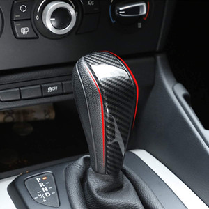 탄소 섬유 스타일 ABS 자동차 센터 기어 시프트 헤드 커버 트림 E48 E61 E64 E65 E85 E86 E83 E53 E81 E82 E87 E90 E91 E92 E93 F01 E87