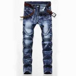 Mcikkny Мужчины High Street Винтажные джинсы Брюки Промытые прямые джинсовые штаны Мужской Streetwear Размер 28-42