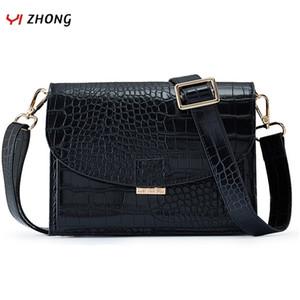 YIZHONG Leather serpentine purses and handbag crossbody bags for women shoulder bag female messenger bag clutch bolsos