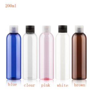 50pc 200ml Clear PET Lotion Cream Packing Bottle With Flip Top Cap,Empty Cosmetic Containers,Refillable Makeup Sample Containers