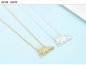 HOT S925 sterling silver necklace cute elephant pendant female jewelry CSF08