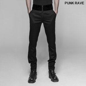 Gothic Vintage Casual Party Formal Wedding Stage Performance Pants Steampunk Stripes Slim Fit Men trousers Punk Rave WK-333XCM