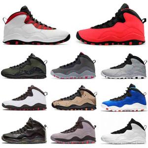 En iyi air jordan retro 10 Desert Camo basketbol ayakkabıları Jumpman 10s Çimento Im Geri VO Beyaz Woodland Kamuflaj mens Gri Toz Mavi spor ayakkabılar spor ayakkabı Duman