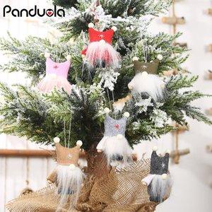 Новый год Ноэль Рождество Ангел Мальчик Горнолыжная Плюшевые куклы Рождественская елка орнамент кулон украшение партии для дома