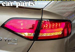 автомобильные аксессуары LED Tail Лампа для A4L задние фонари 2009-2012 для A4 заднего света DRL + сигнал поворота + Тормозная система + Reverse LED свет Назад