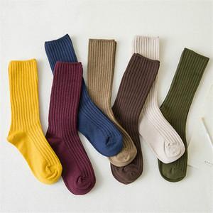 AprilGrass grife New solto Socks Mulheres 200 Needles Cotton Knitting Rib Cores sólidas 14 tipos de 4 estações básicas diárias Mulheres Socks