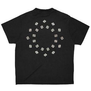 Paisley спутанность Tee Цветочные печати High Street с коротким рукавом рубашки хлопка способа Mens женщин Пара Дизайнер Хип-хоп Футболка HFXHTX150