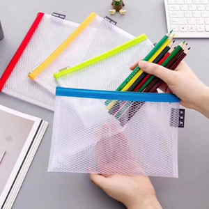 Grid Zipper Document Bag Archival Bags EVA Waterproof File Folder File Pocket Colorful Classified Storage Student Stationery Bag