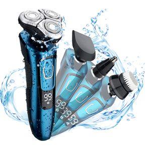 Fonksiyonlu tıraş makinesi elektrikli erkek tıraş vücut yıkama akıllı şarj edilebilir üç parçalı yüz yıkama fırçası burun kılı favoriler
