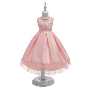 Nouveau mode 2020 Filles Robes de soirée enfants manches en tulle de mariée sirène anniversaire bal robe de bal pour enfants Vêtements Vestido
